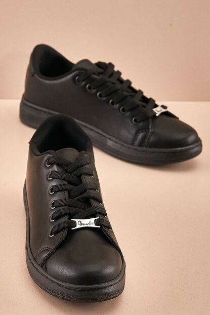 Genuine Leather Black Women Shoes K06710325 K06643200