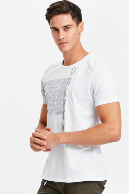 Men's White T-Shirt 8W5015Z8