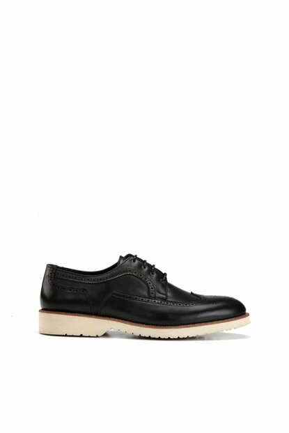 Genuine Leather Navy Blue Men Classic Shoes 02AYH138510A680