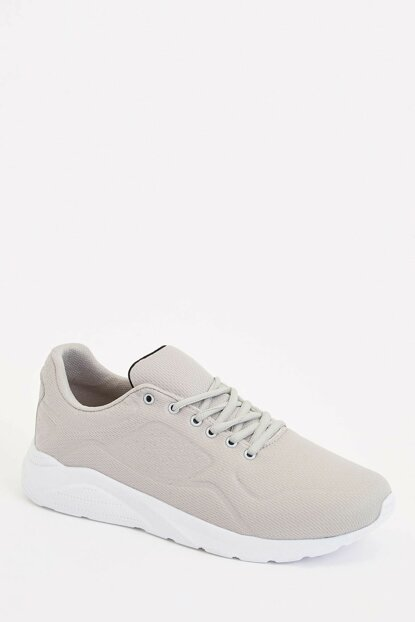 Men's Gray Lace-up Sport Shoes L8685AZ.19AU.GR68