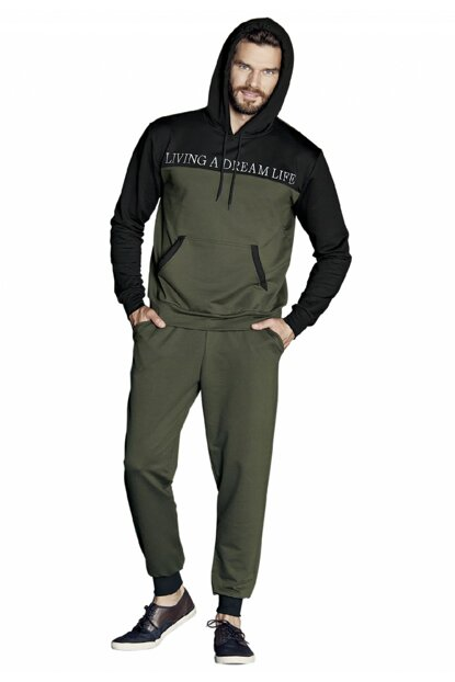 Men's Khaki Hooded Tracksuit Team 5356 5356-