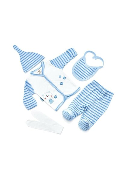 Striped Premature Layette Set with 5 Pieces 12CKSVM3408