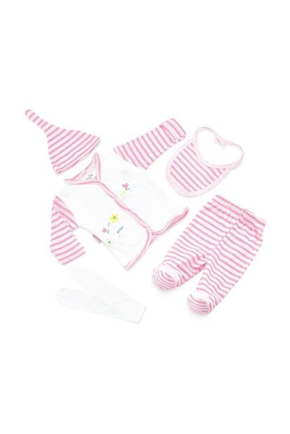 Striped Premature Layette Set with 5 Pieces 12CKSVM3406