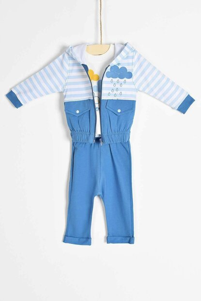 Baby Boy Bottom Top Cardigan 3-Piece Set 6-18 Months 6777 B6777