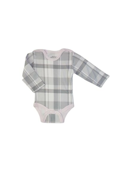 Baby Girl Plaid Pattern Long Sleeve Snaps Badi MNK01954