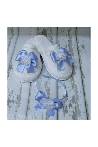 Lohusa Slipper And Crown Set With Bow Blue PRA-554068-020520