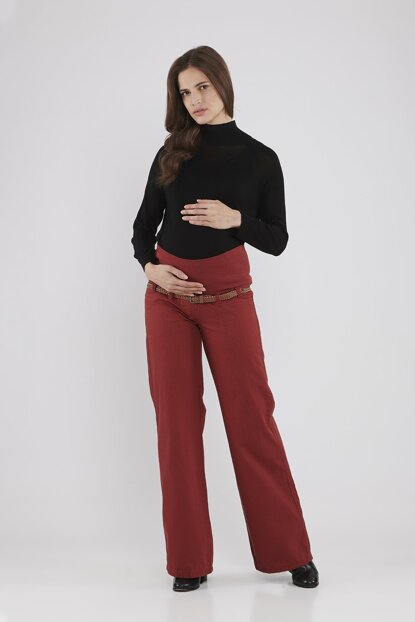 Maternity Trousers - Bordeaux M2098