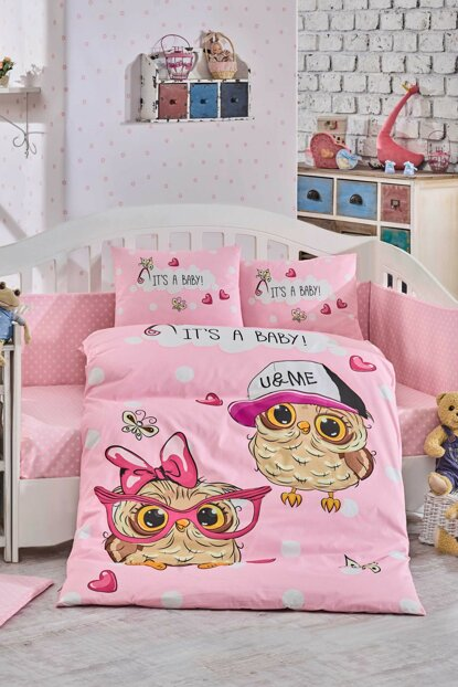 Ranforce Baby Duvet Cover Cool Baby Pink 33050
