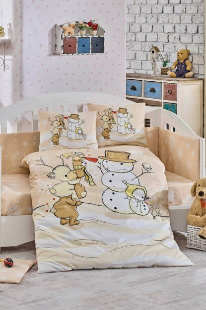 Ranforce Baby Duvet Cover Set Snowball Beige 33049