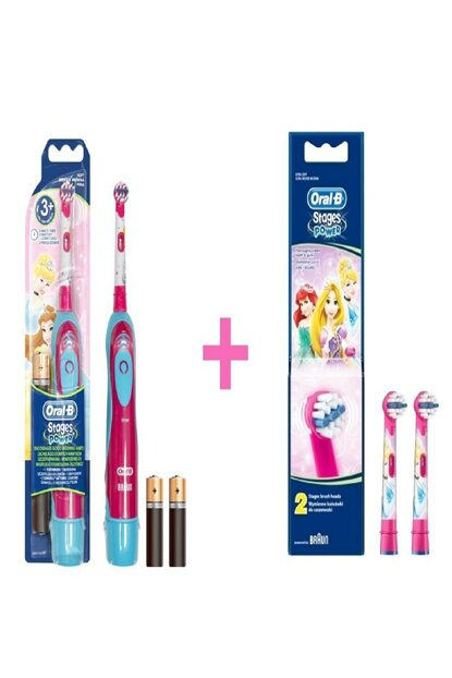 Battery Toothbrush Childprinses + Replacement Headers 2'Li 7210201305002-2