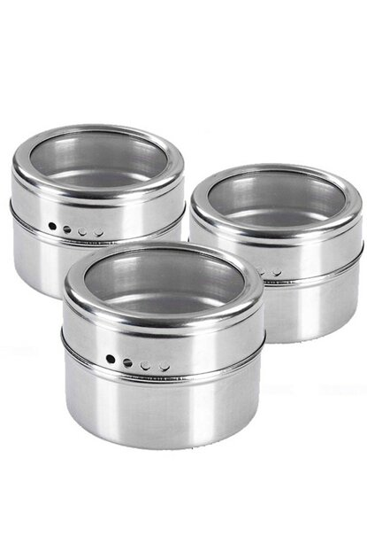 Good quality stainless Steel 3pcs pack Magnet Spice rack cin114 ehy-cin114