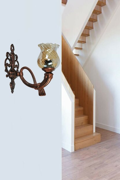 Legend of Sconce Black Copper Patina Chandelier with Glass 721 0657 41 099