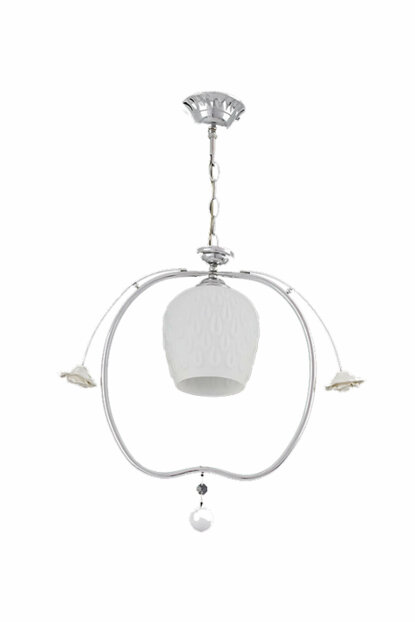 Single Suspension Light - Chrome / White 7976-1P