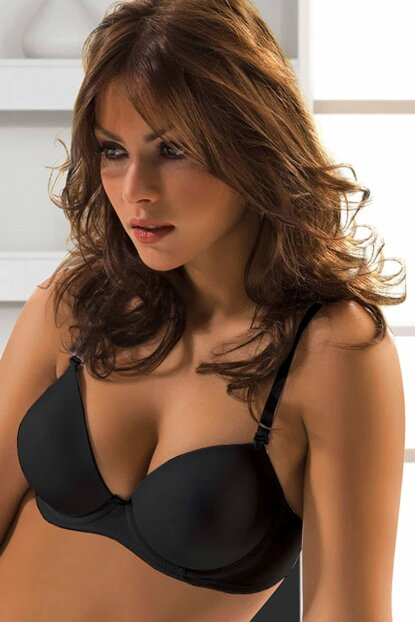 Pemilo da Le Jardin Angelina Micro Filled Supported Bra 7050 Black PE-1648