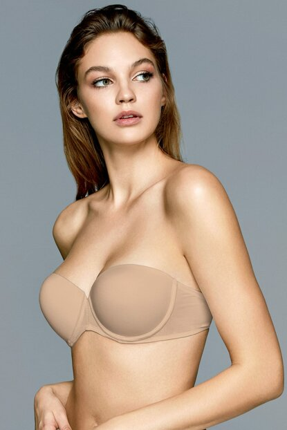 Women's Basic Basic Soft Cup Strapless Push Up / Padded Bra 2227MINI17B_062