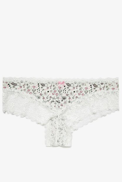 Women's Ecru Brazilian Model Panties 0KLK36729MK