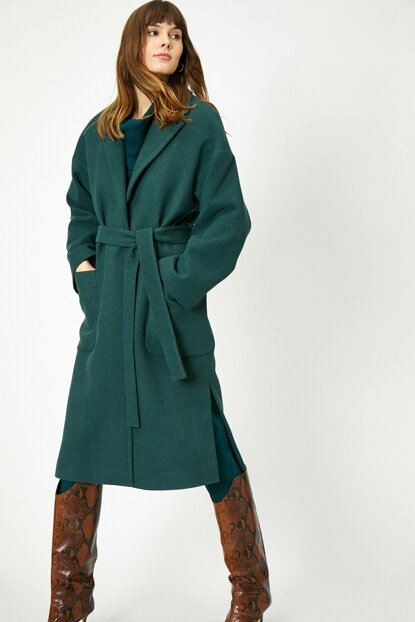Women's Green Waist Coat 0KAK06584EW
