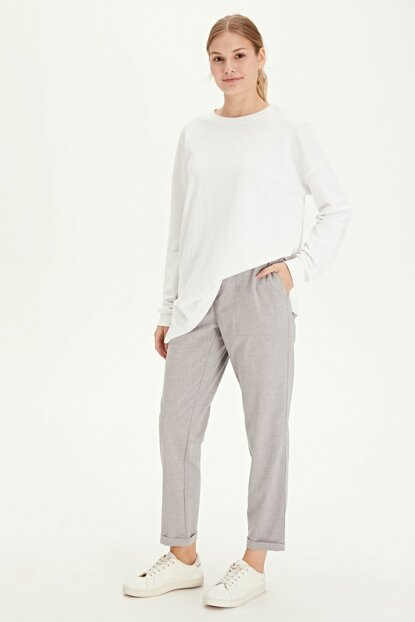 Women's Gray Pants 9WO445Z8