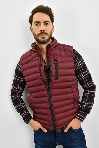 Men's Burgundy Inflatable Vest 9KEYLTEN001