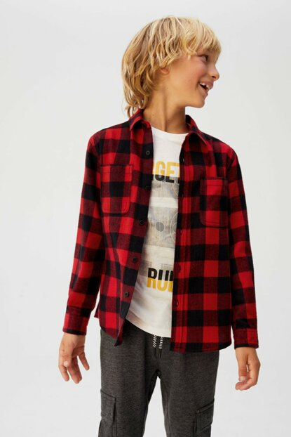 Red Boy Checkered Lumberjacket Shirt 53017677
