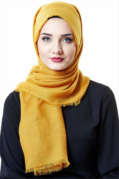 Women's Yellow Shawl 2niq-Sal-Esarp-MD1026