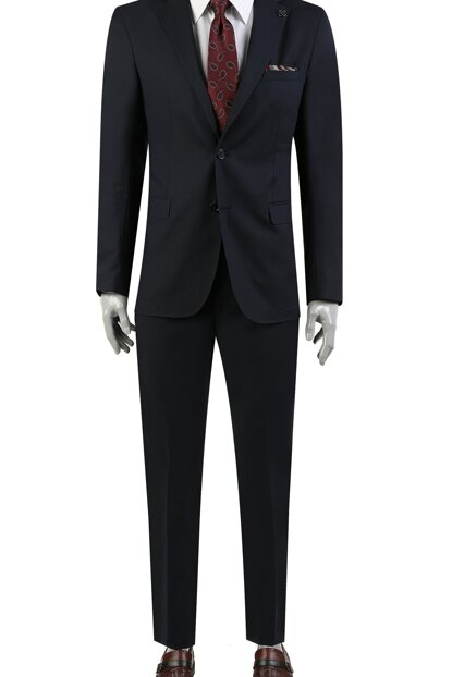 Men's Navy Blue Business Suit 2DF05GU41562_101