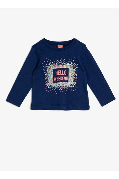 Navy Blue Baby Girl T-Shirt 0KMG19123OK