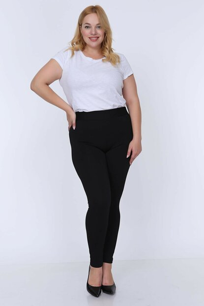 Women Black Black Flexible Leggings 4B-0775