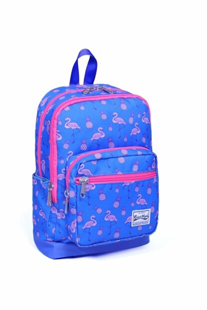 Coral High Purple Flamingo Patterned School and Daily Backpack - Yaygan 14166 YGN14166