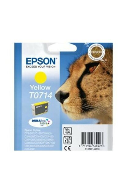 C13t07144021 / T0714 Ink Cartridge Yellow For Epson C13T07144021