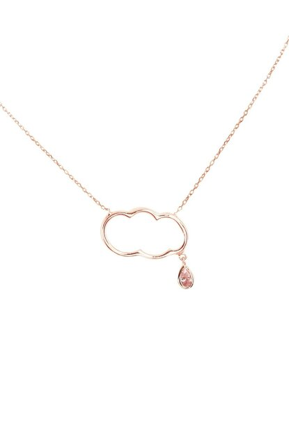 Women's 925 Sterling Silver Cloud Necklace KLY107