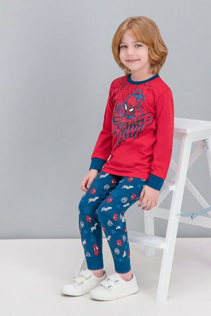 Spider Man Licensed Red Boy Pajamas Set D4241-C-V2