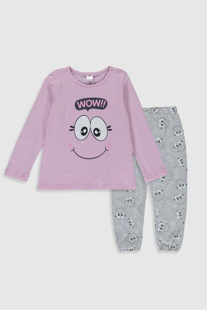 Girl's Pink Lilac G8E Pajama Set 9WN827Z4 Click to enlarge