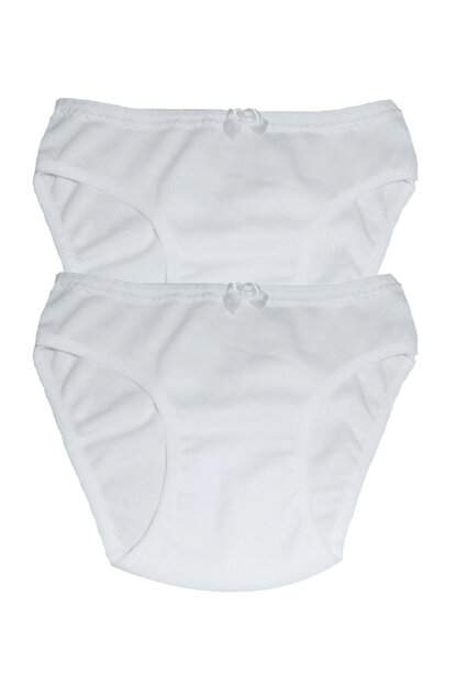 Girl's White 2'li Panties 41590 41590-ph02
