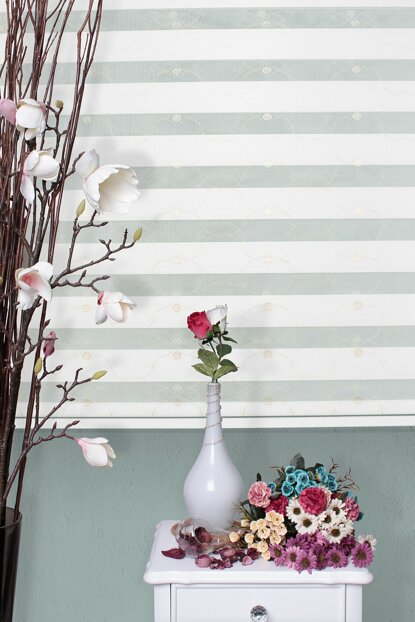 Zebra Roller Blinds Embroidered + Skirt Slice Gift Z-101V43