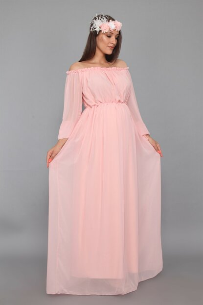 Maternity Dress Powder ML010200X