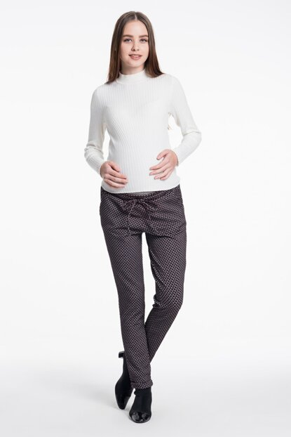 Maternity Trousers - Bordeaux M2288