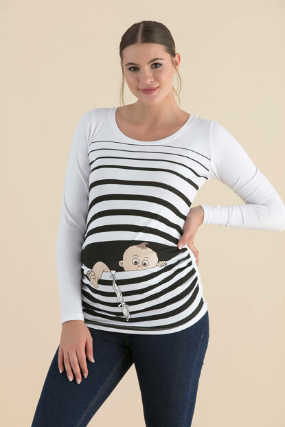 Pregnant Long Sleeve T-Shirt U7771