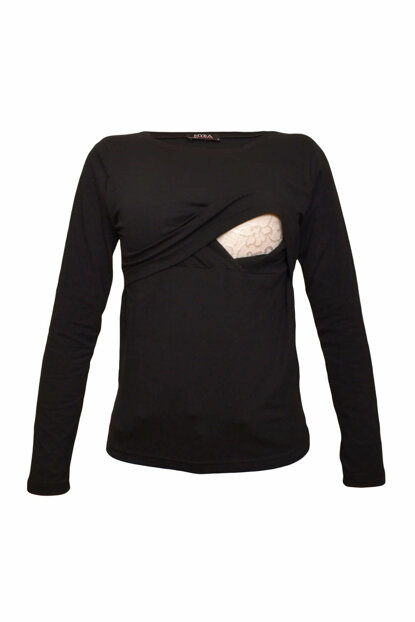 Pregnant Long Sleeve Lohusa Breastfeeding T-Shirt MYRA2701