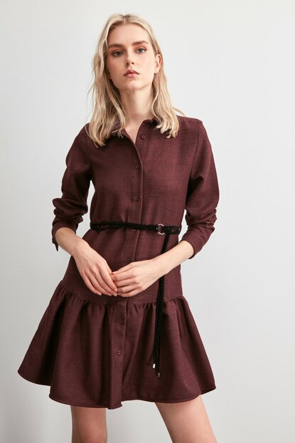 Plum Belted Dress TWOAW20EL1947