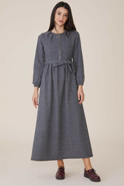 Women's Gray Dress Nassah-MPU-9W5880