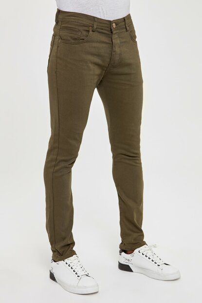 Khaki Men's 5 Pocket Skinny Pants TMNAW20PL0627