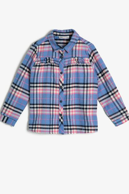 Blue Girl Checkered Shirt 0KKG67948AW