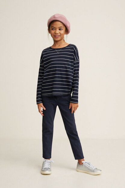 Dark Blue Girls Trousers 33093713