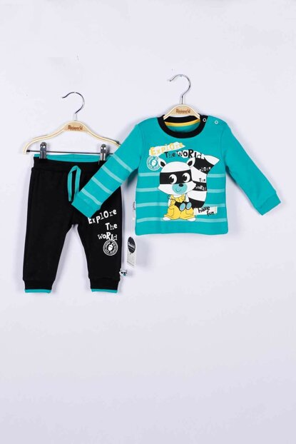 Baby Boy Sweatshirt Trousers Set of 2 14754 MINI14754