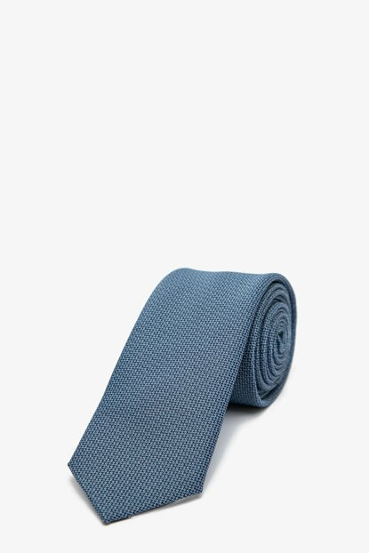 Men's Blue Patterned Necktie 0KAM89004VA