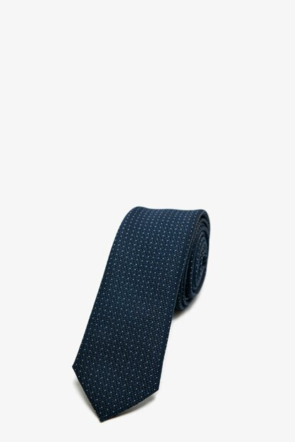 Men's Navy Blue Patterned Necktie 0KAM89001VA