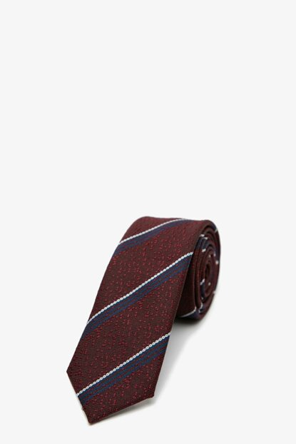 Men's Burgundy Patterned Necktie 0KAM89011VA