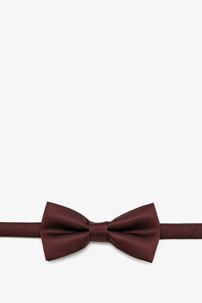 Men's Burgundy Patterned Bow Tie 0KAM89108VA