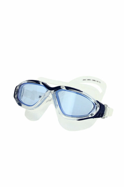White-Navy Blue Swim Glasses - SR-1006-NAVY